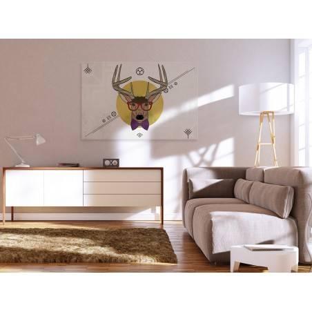 Mr Deer - nowoczesny obraz na płótnie - 120x80 cm