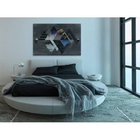 Tajemnica gór - nowoczesny obraz na płótnie - 120x80 cm