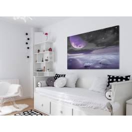 Nocne halo - nowoczesny obraz do sypialni - 120x80 cm