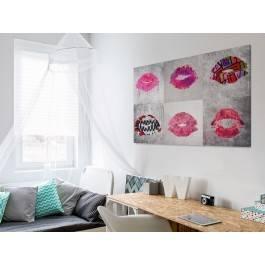 Oblicza miłości - nowoczesny obraz na płótnie - 120x80 cm