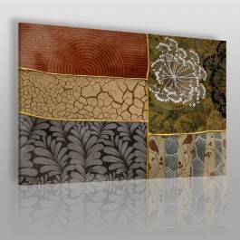 Elegancki patchwork - nowoczesny obraz na płótnie