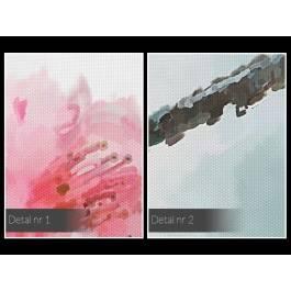 Gałązka kwiecia - nowoczesny obraz na płótnie - 50x70 cm