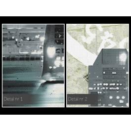 Pocztówka z Nowego Jorku - nowoczesny obraz na płótnie - 120x80 cm