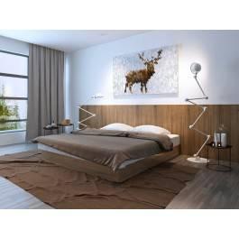 Hello my deer - nowoczesny obraz na płótnie - 120x80 cm