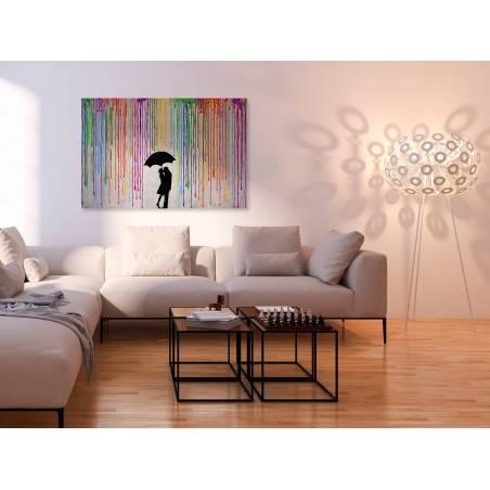 Miłosny skafander - nowoczesny obraz na płótnie - 120x80 cm