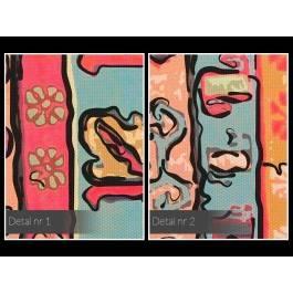 Wzory etnograficzne - nowoczesny obraz na płótnie