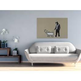 Banksy - Szczekający pies - nowoczesny obraz na płótnie - 120x80 cm