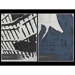 Banksy - Kobieta z wózkiem - nowoczesny obraz na płótnie - 120x80 cm