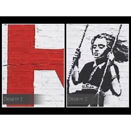 Banksy - Parking - nowoczesny obraz na płótnie - 120x80 cm
