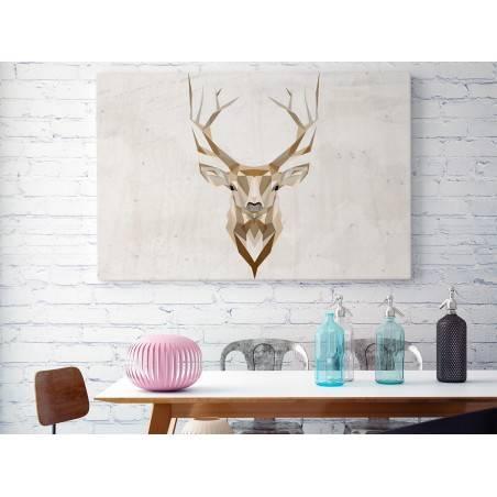 Jeleń szlachetny - nowoczesny obraz na płótnie - 120x80 cm