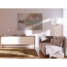 Gejzer ekspresji - nowoczesny obraz na płótnie - 120x80 cm