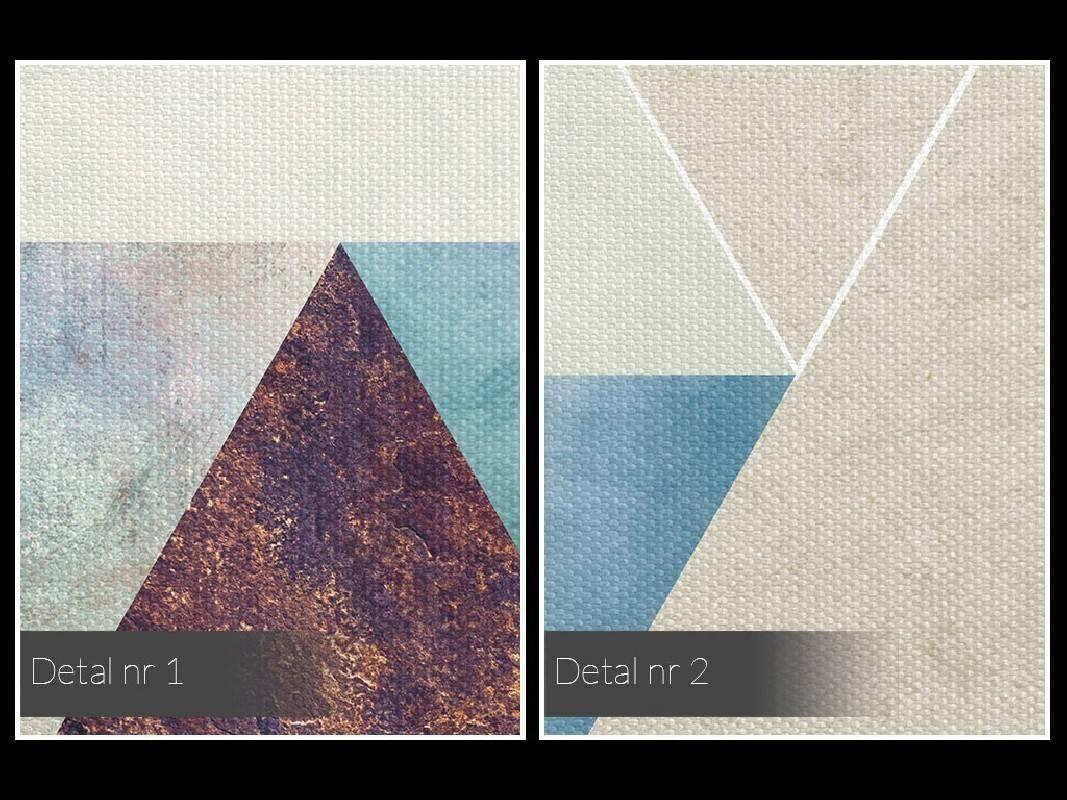 Heksagonalny przypływ - nowoczesny obraz na płótnie - 120x80 cm