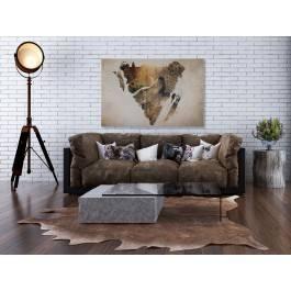 Wilczy jar - nowoczesny obraz na płótnie - 120x80 cm