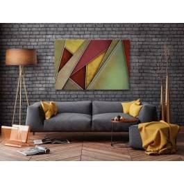 Stalowa kurtyna - nowoczesny obraz na płótnie - 120x80 cm