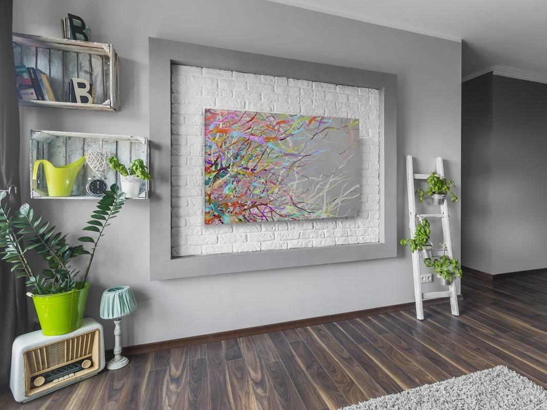 Płomienne zorze - nowoczesny obraz na płótnie - 120x80 cm