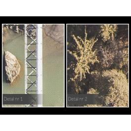 Most na rzece - zdjęcie na płótnie - 120x80 cm