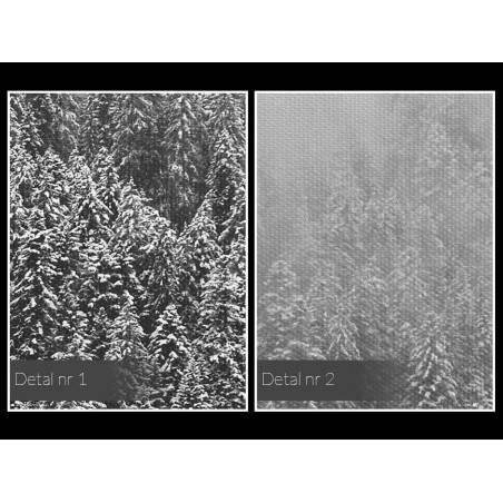 Dolina mgieł - nowoczesny obraz na płótnie - 120x80 cm