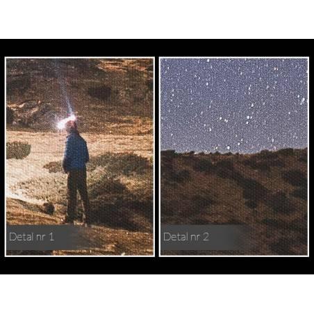 Sięgnąć gwiazd - fotoobraz do sypialni - 120x80 cm