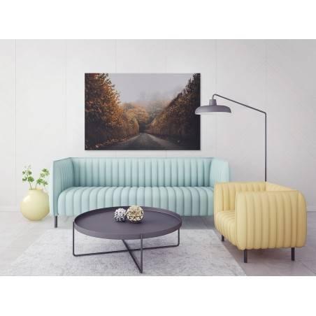 Za zakrętem - nowoczesny obraz na płótnie - 120x80 cm