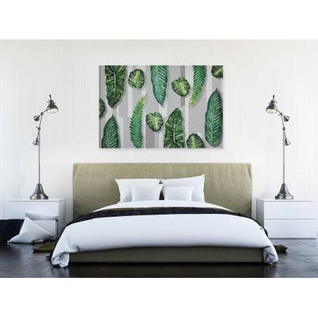 Zielono mi - nowoczesny obraz do salonu - 120x80 cm