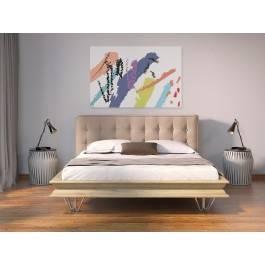 Epicka biel - nowoczesny obraz na płótnie - 120x80 cm