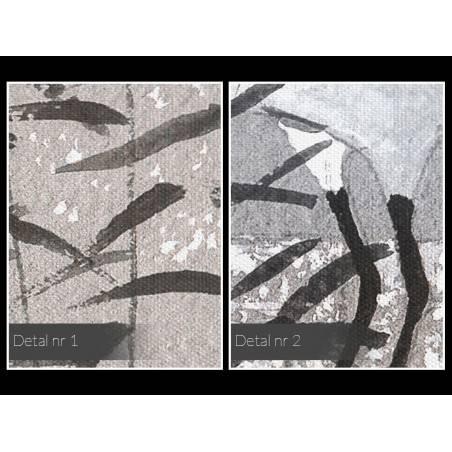 Dostojne żurawie - nowoczesny obraz na płótnie - 120x80 cm