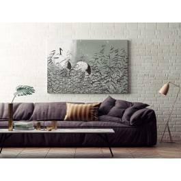 Dumne żurawie - nowoczesny obraz na płótnie - 120x80 cm