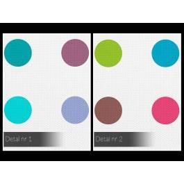 Minimalizm pełen kolorów - nowoczesny obraz na płótnie - 80x80 cm