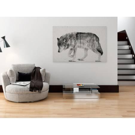 Leśna wataha - nowoczesny obraz na płótnie - 120x80 cm