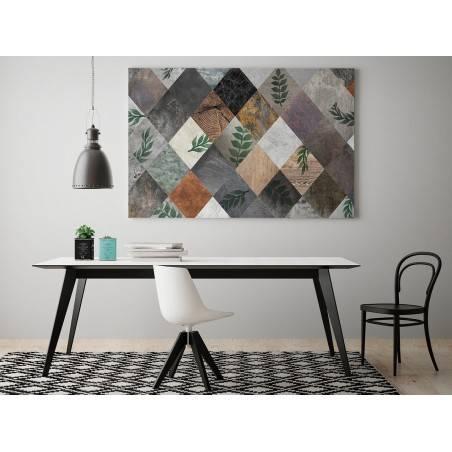 Lewa karo - nowoczesny obraz do salonu - 120x80 cm