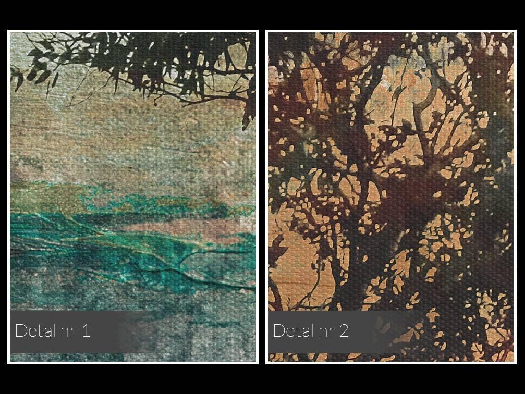 Wieczne drzewo miłości - nowoczesny obraz na płótnie - 120x80 cm
