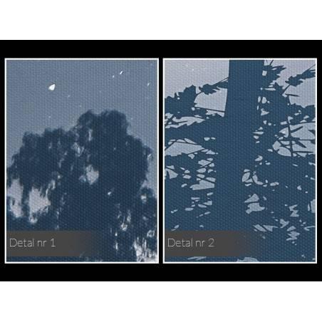 Noc spadających gwiazd - nowoczesny obraz na płótnie - 120x80 cm