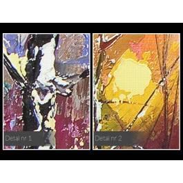 Zimowy poranek - nowoczesny obraz do salonu - 120x80 cm