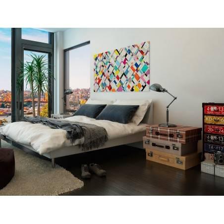 Narracja Harlekina - nowoczesny obraz do salonu - 120x80 cm