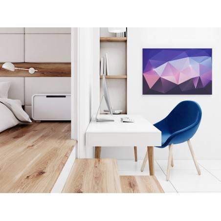 Ametyst - nowoczesny obraz na płótnie - 120x80 cm