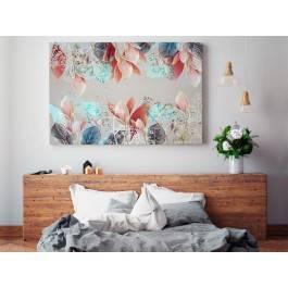 Zaczarowany ogród - nowoczesny obraz do sypialni - 120x80 cm
