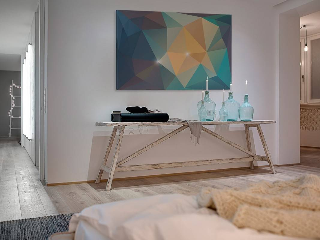 Amazonit - nowoczesny obraz na płótnie - 120x80 cm