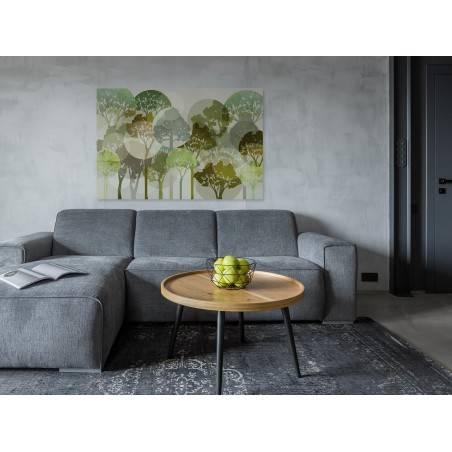 Migotliwe zielenie - nowoczesny obraz na płótnie - 120x80 cm