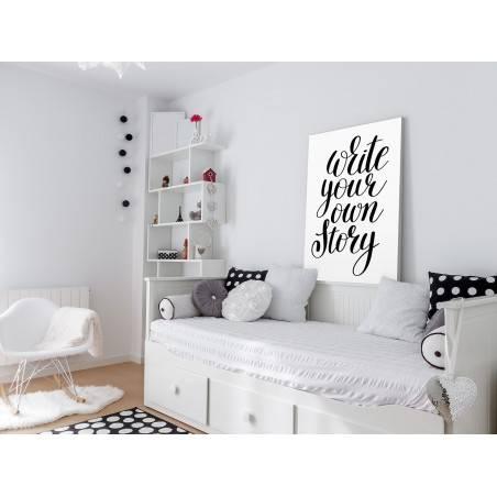 Write your own story - nowoczesny obraz do sypialni - 50x70 cm