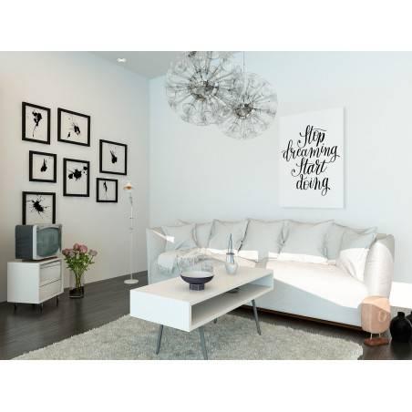 Stop dreaming start doing - nowoczesny obraz do salonu - 50x70 cm