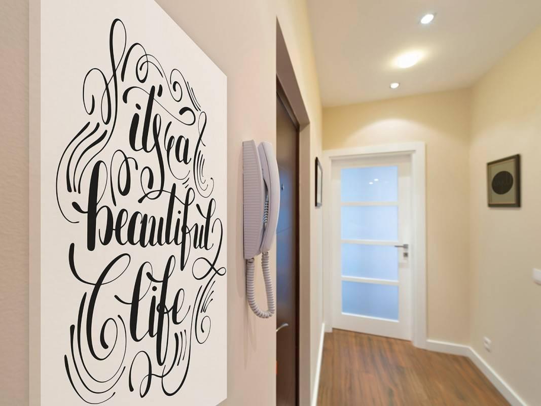 It's a beautiful life - nowoczesny obraz na płótnie - 50x70 cm