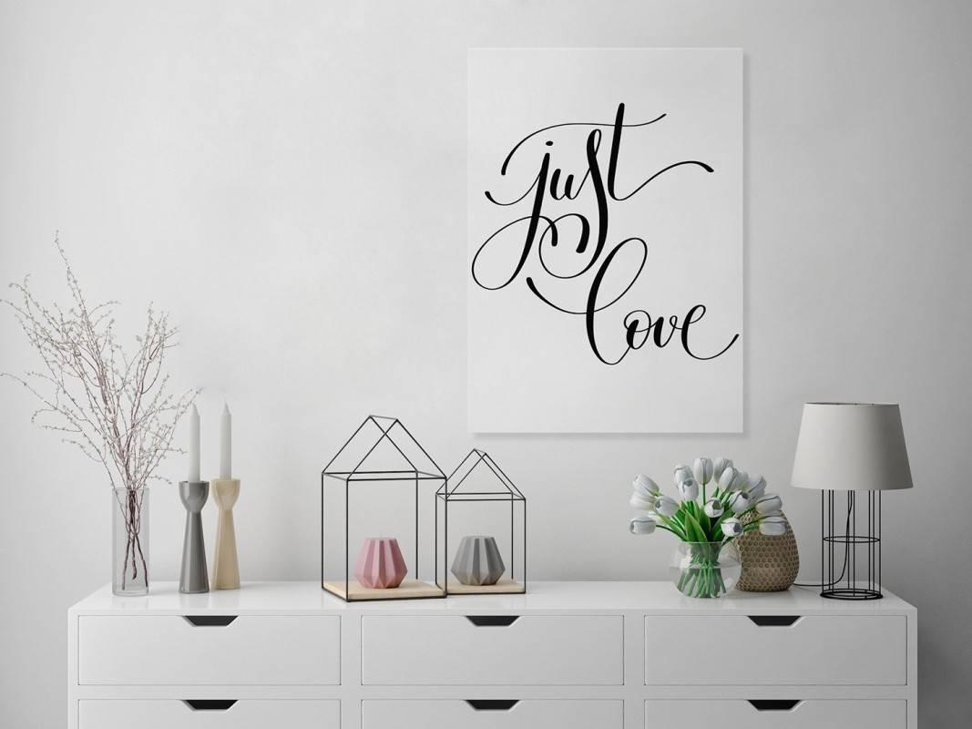 Just love - nowoczesny obraz na płótnie - 50x70 cm