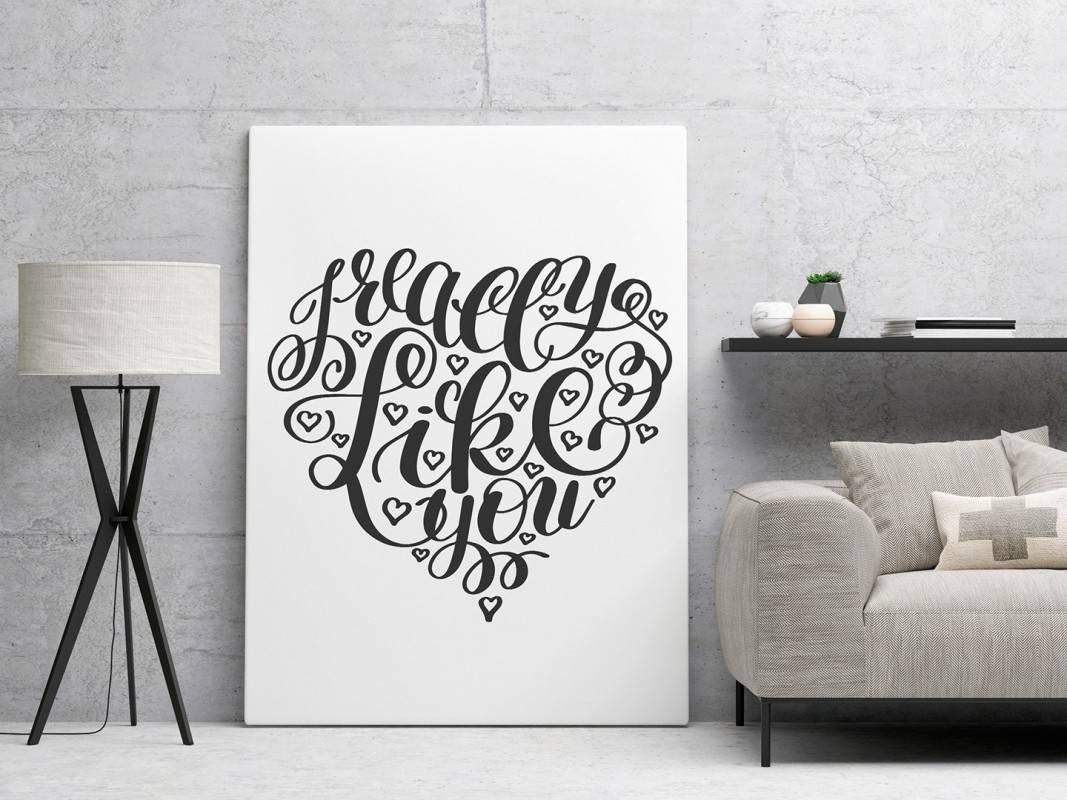 I really like you - nowoczesny obraz na płótnie - 50x70 cm