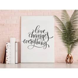 Love changes everything - nowoczesny obraz do sypialni - 50x70 cm