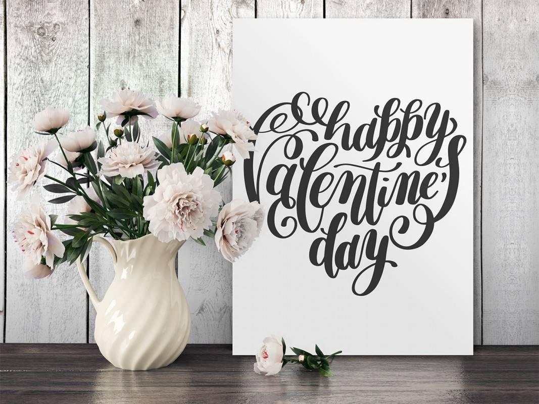 Happy Valentine's Day - nowoczesny obraz do sypialni - 50x70 cm