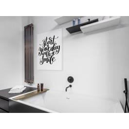 Start your day with a smile - nowoczesny obraz na płótnie - 50x70 cm