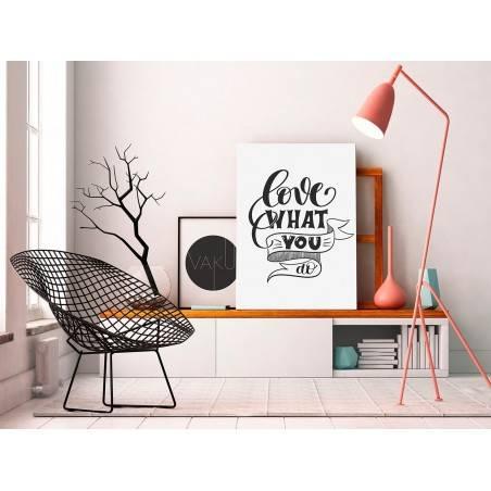 Love what you do - nowoczesny obraz do salonu - 50x70 cm