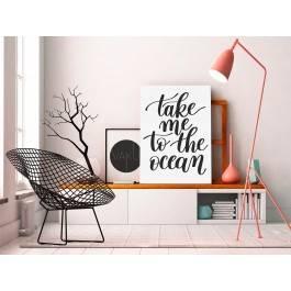 Take me to the ocean - nowoczesny obraz do salonu - 50x70 cm