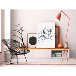 Think positive - nowoczesny obraz na płótnie - 50x70 cm