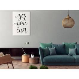 Yes you can - nowoczesny obraz do salonu - 50x70 cm